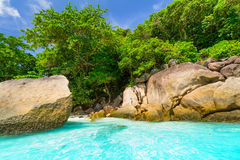 Paradise beach of Similan islands Royalty Free Stock Photos