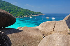 Paradise beach of Similan islands, Thailand Stock Photography