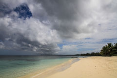 Paradise beach before the storm, Île aux Nattes, Toamasina, Madagascar Stock Photos