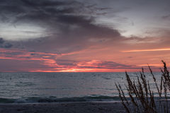 Paradise beach sunset Royalty Free Stock Photography