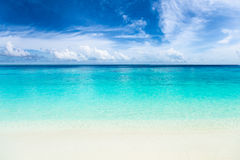 Paradise beach with turquoise blue water Royalty Free Stock Images