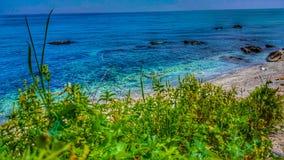 Paradise Beach at Velika Greece stock image