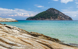 Paradise beach. View, Thassos, Greece Royalty Free Stock Photography