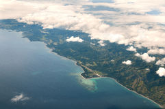 Paradise Bounty Island Aerial View Stock Images
