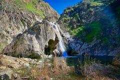 Paradise cai parque Thousand Oaks Califórnia da floresta virgem fotografia de stock