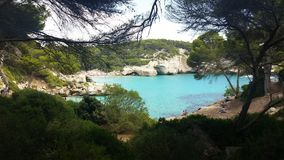 The paradise in Cala Mitjana royalty free stock images