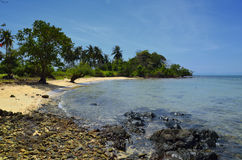 Paradise Cambodian beach at Rabbit Island Royalty Free Stock Images