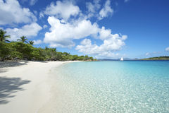 Paradise Caribbean Beach Virgin Islands Horizontal Royalty Free Stock Photography