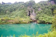 Paradise cave at Phong Nha-Ke Bang National Park, UNESCO World Heritage Site in Quang Binh Province, Vietnam. Paradise cave at Phong Nha-Ke Bang National Park stock photo