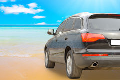 Paradise is close, sea washing tires Stock Images