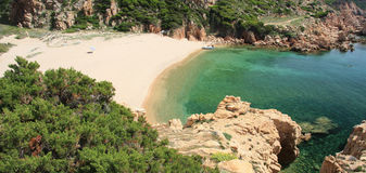 Paradise Coast. Aerial view of wild Paradise Coast in north Sardinia Royalty Free Stock Images