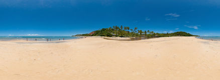 Paradise coast. A 360 degrees panorama taken at Praia do Espelho, in Bahia-Brazil Stock Images
