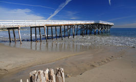 Paradise Cove Pier. Old wood pier at Paradise Cove in Malibu Royalty Free Stock Image