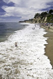 Paradise Cove Surf Bathers Royalty Free Stock Photo