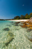 Paradise Crystal Clear Water Rocky Beach Royalty Free Stock Image