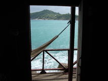 Paradise door. stock photo
