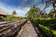 Paradise on Earth garden at Mengwi Temple Royalty Free Stock Images