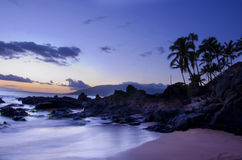 Paradise on Earth. This picture was taken in Maui, its a long exposure and is a sunset Stock Images
