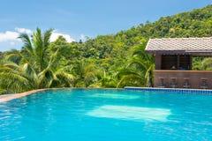 Paradise Farm Park swimming pool at Samui Thai Stock Image