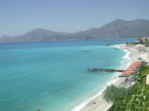 Paradise At Fethiye. Beautiful southern landscape and Mediterranean waters at Fethiye, Turkey Stock Images