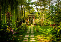 Paradise. Gate to the paradise-door in Thailand's garden Stock Photography