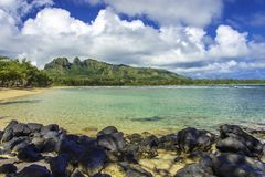 Paradise ha trovato sull'isola hawaiana di Kauai fotografia stock libera da diritti