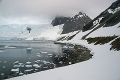 Paradise harbour Antarctic peninsula. View of paradise harbour on the Antarctic peninsula stock photo