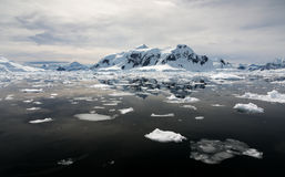 Paradise Harbour Antartica. The icy landscape of Paradise Harbour Antarctica Stock Photo