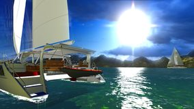 Paradise on Hawaii Island Stock Image