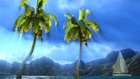 Paradise on Hawaii Island Royalty Free Stock Photography