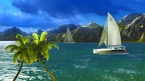 Paradise on Hawaii Island Royalty Free Stock Photo