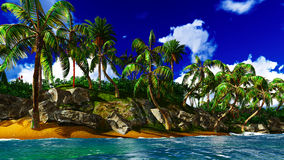 Paradise on Hawaii Island Royalty Free Stock Image