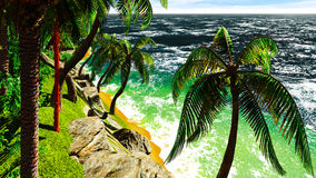 Paradise on Hawaii Island Stock Photo