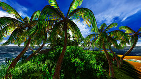 Paradise on Hawaii Island. With awesome skyscape Stock Image