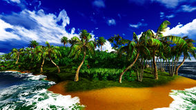 Paradise on Hawaii Island. With awesome skyscape Stock Images