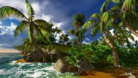 Paradise on Hawaii Island Stock Photos