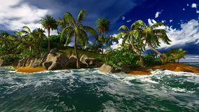 Paradise on Hawaii Island. With awesome skyscape Royalty Free Stock Photo