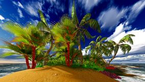 Paradise on Hawaii Island Stock Photography