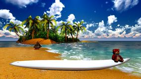 Paradise on Hawaii Island Stock Images