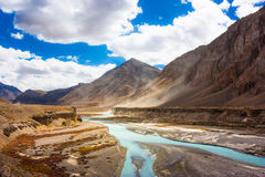 Paradise of India. Beautiful area with mountains and river Royalty Free Stock Photo