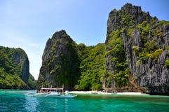 Paradise Island. One of many beautiful islands around Palawan, Philippines Stock Photo