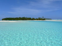 Paradise island. A beautiful island in a south seas atoll Stock Images