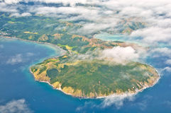 Paradise Island Aerial View Stock Photo
