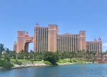 Atlantis Hotel in the Bahamas stock photography