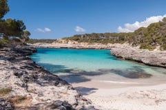 Paradise in the island. Paradise beach on spanish mediterranean island Stock Images