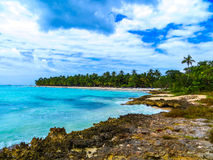Paradise island in the Caribbean. View of the island paradise in the Caribbean Stock Image