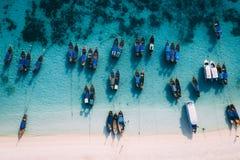Paradise Island Crystal Clear Sea, Blu, palms, on fyre royalty free stock photo