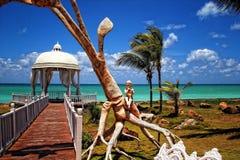 Paradise  island - Cuba,Varadero. Paradise exotic romantic island for honeymoon - Cuba Varadero Stock Photos