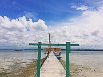 Paradise island in Davao. Enjoy leisure time with yourself Stock Images