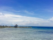 Paradise island in Davao. Sea is melt in sky Stock Photo